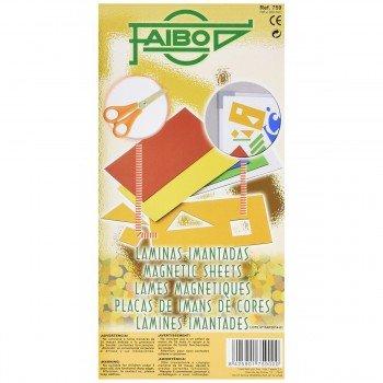 Laminas Imantadas FAIBO, Pack x5 Colores