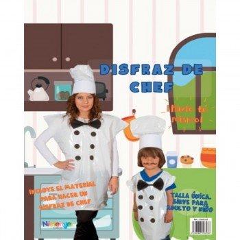 Disfraz Bolsa Plástico NIEFENVER Cocinero Chef
