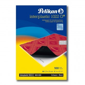 Papel Carbón PELIKAN Interplastic 1022G Din-A4 Negro, Pack x100