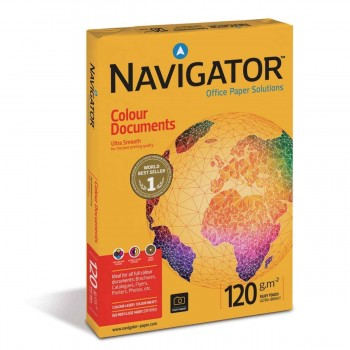 Papel NAVIGATOR Colour Documents 120 gr. Din-A3, Paquete x500 Hojas
