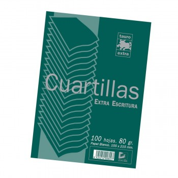 Papel TAURO Extra 80 gr. Din-A5, Paquete x100 Hojas