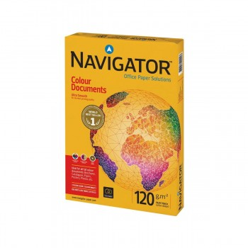 Papel NAVIGATOR Colour Documents 120 gr. Din-A4, Paquete x250 Hojas