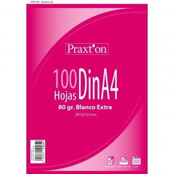 Papel Blanco Multifunción PRAXTON 80 gr. Din-A4, Paquete x100 Hojas
