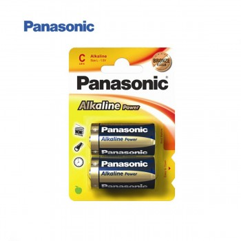 Pila Alcalina PANASONIC LR14 C, Blister x2