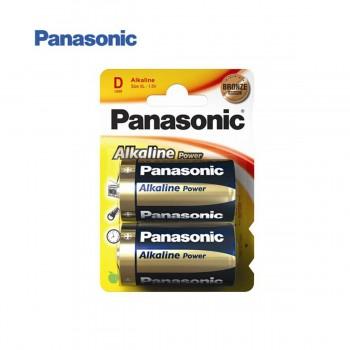 Pila Alcalina PANASONIC LR20 D, Blister x2