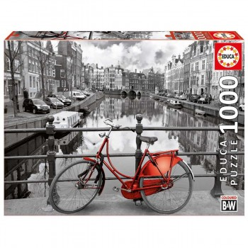 Puzzle EDUCA 1000 Piezas, Ámsterdam
