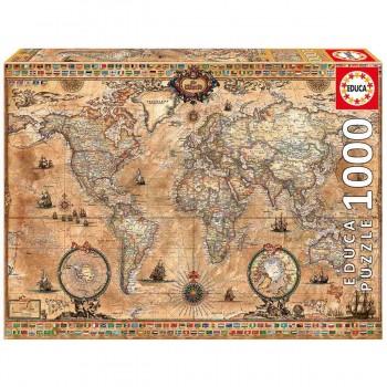 Puzzle EDUCA 1000 Piezas, Mapamundi