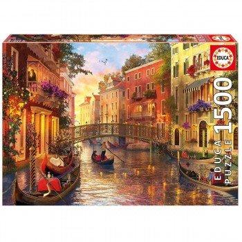 Puzzle EDUCA 1500 Piezas, Atardecer En Venecia