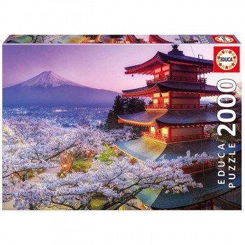 Puzzle EDUCA 2000 Piezas, Monte Fuji Japón