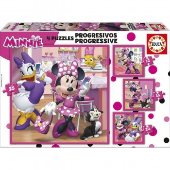 Puzzle EDUCA Progresivo 12-16-20-25 Piezas, Minnie Happy Helpers