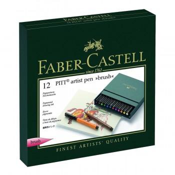 Rotuladores FABER-CASTELL Pitt Artist, Caja x12 Colores