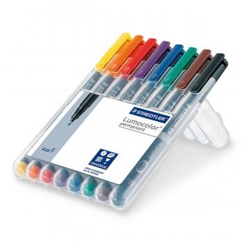 Rotuladores Permanentes STAEDTLER Lumocolor 318F, Caja x8 Colores