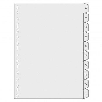 Indice Alfabético FINOCAM Alfa 3005, Plástico Folio Natural