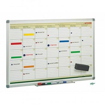 Pizarra Planificación Mensual FAIBO, Magnética 60 x 90 cm.