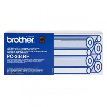 Cinta Transferencia Fax BROTHER PC304RF, Caja x4 Rollos