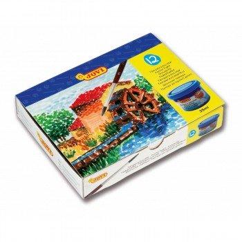 Tempera Escolar JOVI 35 ml, Caja x12 Colores