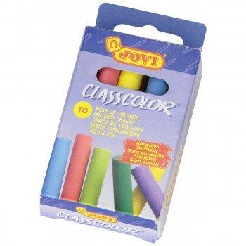 Tizas Color JOVI Classcolor, Caja x10