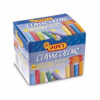 Tizas Color JOVI Classcolor, Caja x100