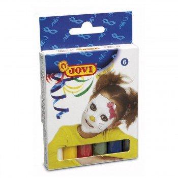 Maquillaje JOVI Barra 17 gr, Caja x6 Colores