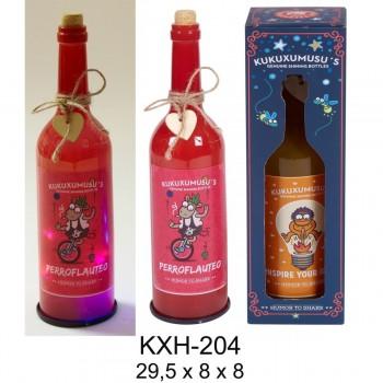 Botella Luz KUKUXUMUSU Perroflauteo