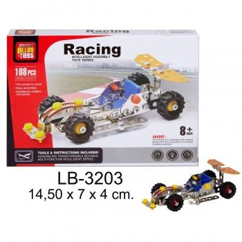 Mecano ALLOY TOYS Racing Car 108 Piezas