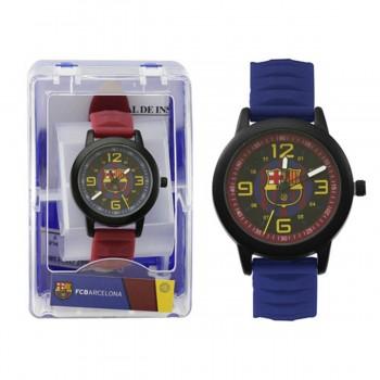 Reloj Pulsera F.C. BARCELONA Cadete, 38 mm. Goma Rojo/Azul