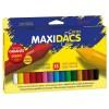 Ceras Blandas MAXIDACS, Caja x15 Colores