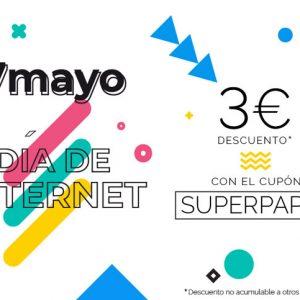 Día de Internet: ¡3€ de descuento en tu pedido!