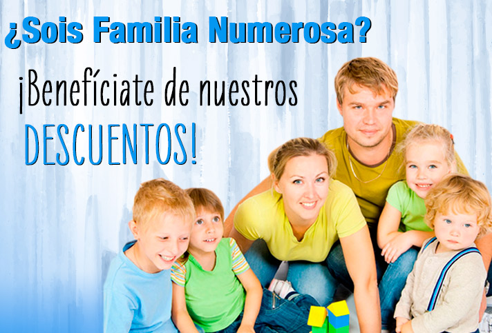 ¿ERES FAMILIA NUMEROSA? ¡BENEFÍCIATE DE LOS DESCUENTOS DE PAPELSTORE!