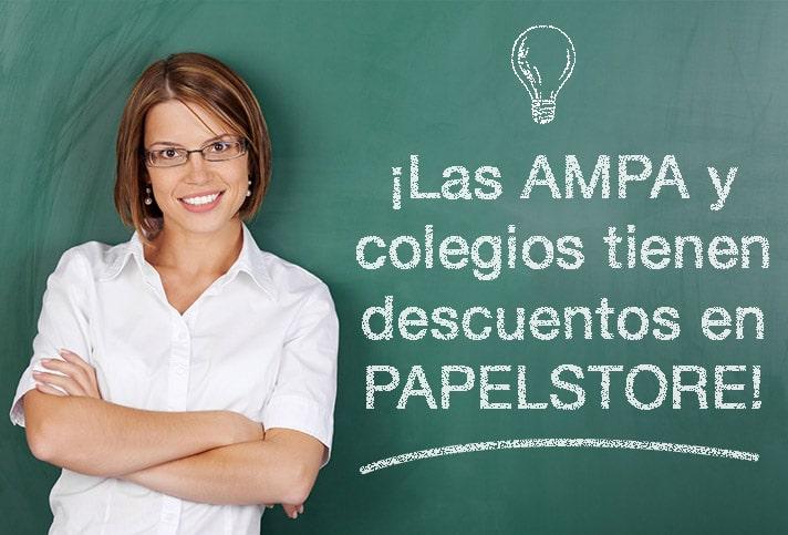 ¡Descuentos para Colegios y AMPA con PAPELSTORE!